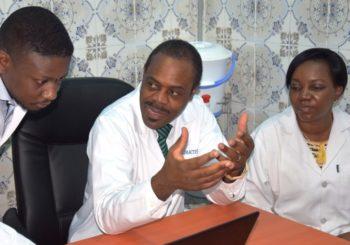 Visite du ministre Oly Ilunga à l'Unité de dialyse des CUK